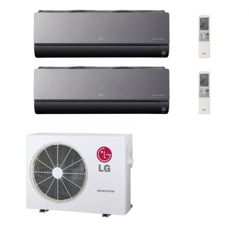 Lg Air Conditioning MU2M15-UL4 2 Room Multi Heat Pump 2 x 2.5Kw Artcool Mirror AC09BQ.NSJ 240V~50Hz